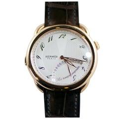 "Hermes Rose Gold ""Arceau"" Automatic Wristwatch"
