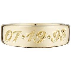 14 Karat Custom Engraved Pink Ring