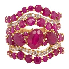 Ruchi New York Ruby and Diamond Ring