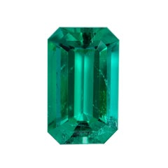 Natural Colombian Emerald Emerald Cut 2.17 Carats AGL Certified Untreated