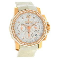 Corum Admirals Cup Rose Gold Diamond Dial and Bezel Ladies Watch
