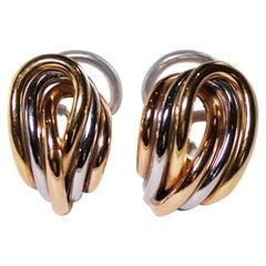 Friedrich Threesome Golden Earrings