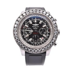 Breitling Bentley Motors Stainless Steel, Custom Diamond Dial and Bezel Watch