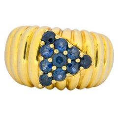 Jose Hess 1990s 1.25 Carat Sapphire 18 Karat Gold Ring