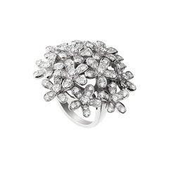 Van Cleef & Arpels Diamond 18 Karat White Gold Socrate Ring