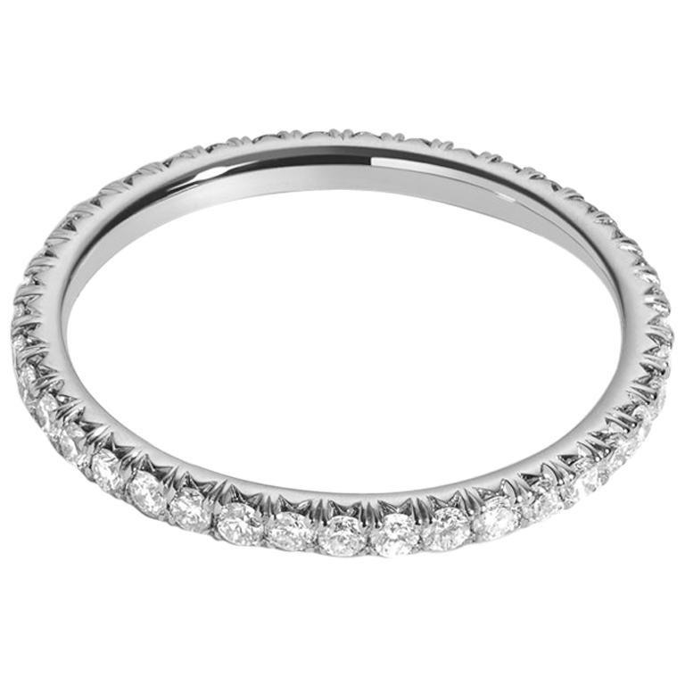 .50 Carat Platinum Pavé Diamond Eternity Wedding Band