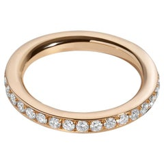 .78 Carat 18 Karat Yellow Gold Pavé Diamond Eternity Wedding Band