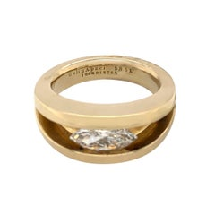 14 Karat Yellow Gold 1.10 Carat Diamond Ring