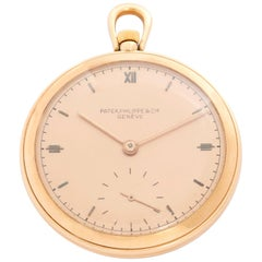 Patek Philippe 18 Karat Rose Gold Art Deco Pocket Watch