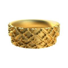 18 Karat Yellow Gold Wedding Ring Set