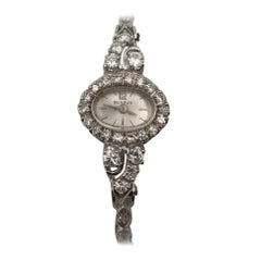 Benrus 14 Karat White Gold Vintage Diamond Watch