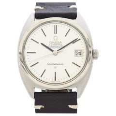 Vintage Omega Constellation C-Shaped Stainless Steel Watch, 1966