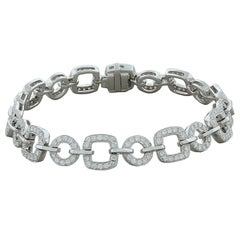 Diamond Gold Link Tennis Bracelet