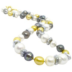 Decadent Jewels Baroque Australian South Sea & Tahitian Pearl 14k Gold Necklace