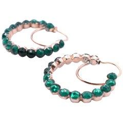 Antique Green Paste Poissard Earrings