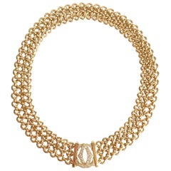 Cartier Necklace in 18 Carat Yellow Gold and Diamonds