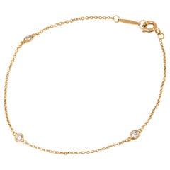 Tiffany & Co. 18 Karat Yellow Gold Elsa Peretti Diamonds By The Yard Bracelet