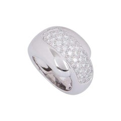 Chaumet White Gold Diamond Ring 1.08 Carat