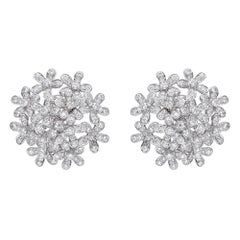 Van Cleef & Arpels Diamond 18 Karat White Gold Socrate Earrings