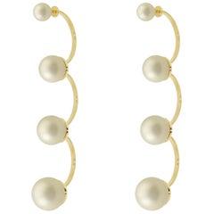 DELFINA DELETTREZ Multipearl 18 Karat Gold Drop Earrings