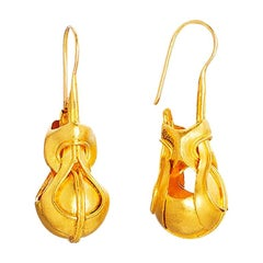 24k Gold Heracles Knot Handcrafted Drop Earrings