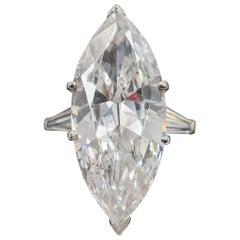 10.29 Carat Marquise Cut Platinum Engagement Ring