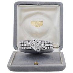 1950s Boucheron Paris Important Diamond Platinum Bracelet