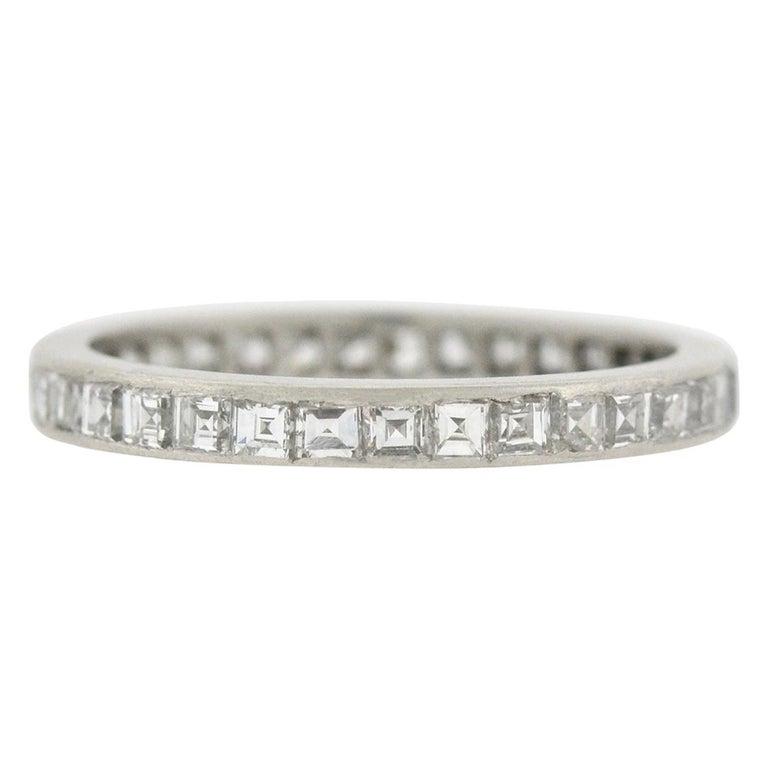 7d38c7d47 Tiffany & Co. Art Deco Carré Cut Diamond Eternity Band 1.25 Carat For Sale