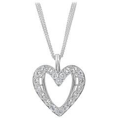 Roman Malakov, Unique Diamond Heart Pendant Necklace