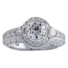 GIA Certified 1.01 Carat Diamond Engagement Ring