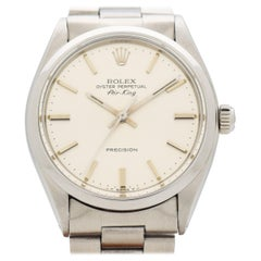 Vintage Rolex Air-King Reference 5500/1002 Stainless Steel Watch, 1979