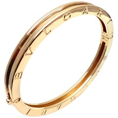 Bulgari B-Zero Yellow Gold Bangle Bracelet