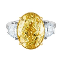 GIA Certified 10.01 Carat Oval as Fancy Brownish Yellow Ring