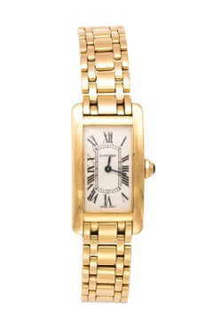 18 Carat Gold Cartier Tank Watch