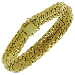 Vintage Yellow Gold Braided Bracelet
