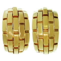 Cartier Maillon Panthere Yellow Gold Wrap Earrings
