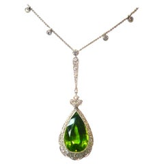 Edwardian Peridot and Diamond Necklace, Shreve & Co., circa 1918