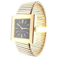 Bulgari Tubogas Quadrato Yellow Gold and Stainless Steel Bracelet Watch SQ292T