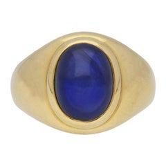 Vintage Monture Cartier Burmese Sapphire Ring, circa 1970