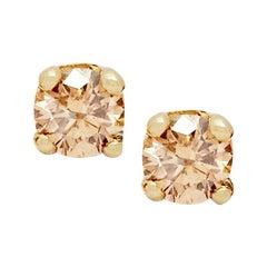 Champagne Diamond Stud Earring 'Pair' by Allison Bryan