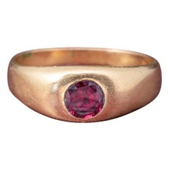 Antique Victorian Ruby 18 Carat Gold 0.60 Carat Ruby, circa 1900 Ring