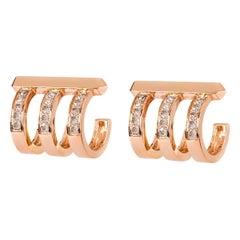 Monseo Diamond Rose Gold Earrings