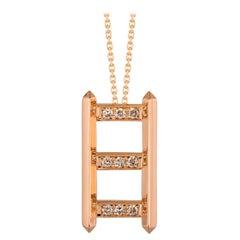 Monseo Diamond Rose Gold Pendant Necklace