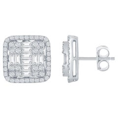 Princess Cut Earrings 2.45 Carat