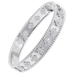 Van Cleef & Arpels Perlée Clovers Bracelet, 18 Karat White Gold, Diamond