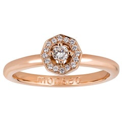 Monseo Rose Gold Diamonds Solitaire Engagement Ring