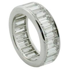 Large Diamond Eternity Ring in Platinum 9.50 Carat