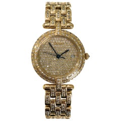Cartier Panthere Vendome Diamond 18 Karat Yellow Gold Watch