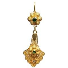 Diamond and Tsavortie Dangle Earrings