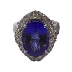 Tanzanite Diamond Cocktail Ring